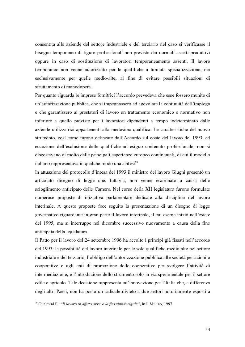 Anteprima della tesi: Quando il lavoro è ''somministrato''. Analisi etnografica presso l'Alai-Cisl di Trento. , Pagina 8