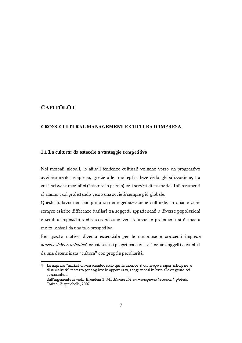 Anteprima della tesi: Culture nazionali e gestione d'impresa: il cross-cultural management, Pagina 3