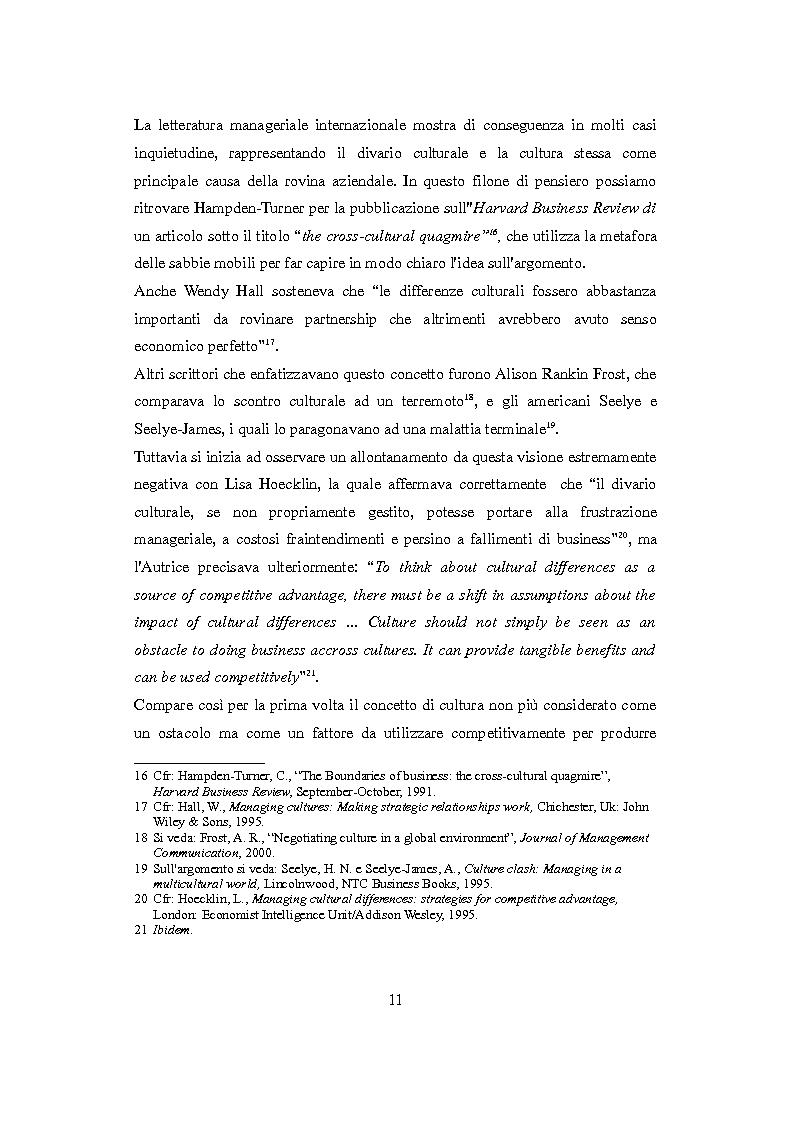 Anteprima della tesi: Culture nazionali e gestione d'impresa: il cross-cultural management, Pagina 7