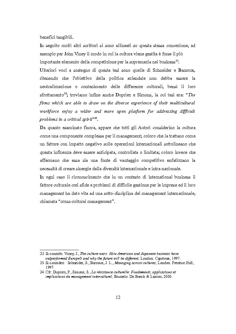 Anteprima della tesi: Culture nazionali e gestione d'impresa: il cross-cultural management, Pagina 8