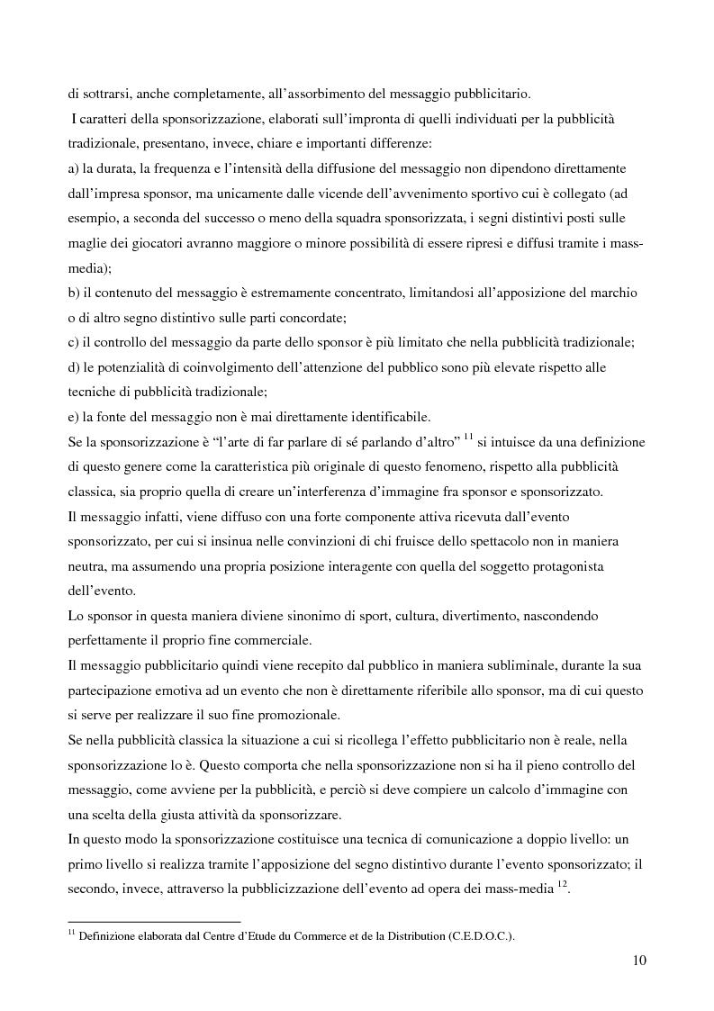 Anteprima della tesi: Strategie di sponsoring in ambito sportivo: il caso del rugby, Pagina 6