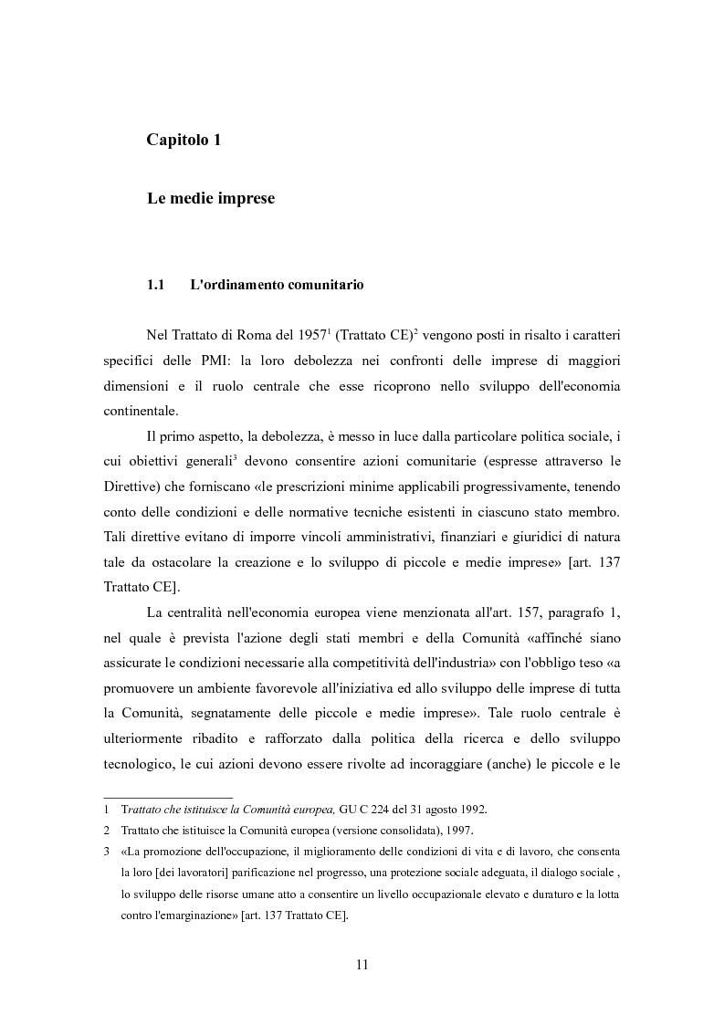 Anteprima della tesi: I finanziamenti bancari alle medie imprese, Pagina 1