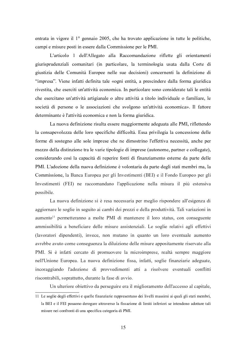 Anteprima della tesi: I finanziamenti bancari alle medie imprese, Pagina 5
