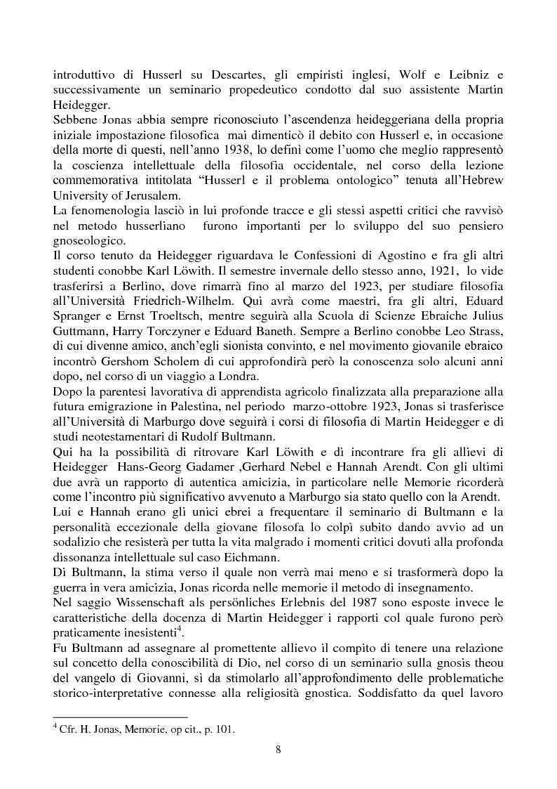Anteprima della tesi: La biologia filosofica in ''Organismo e Libertà'' di Hans Jonas, Pagina 6