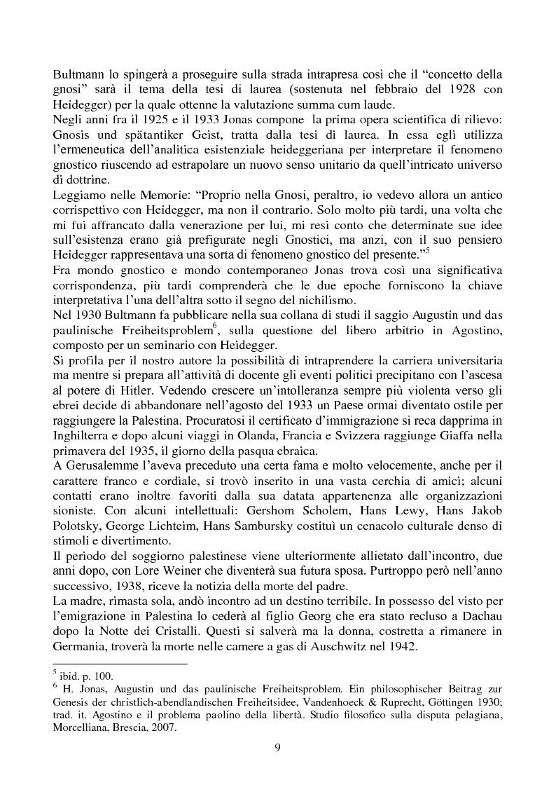 Anteprima della tesi: La biologia filosofica in ''Organismo e Libertà'' di Hans Jonas, Pagina 7
