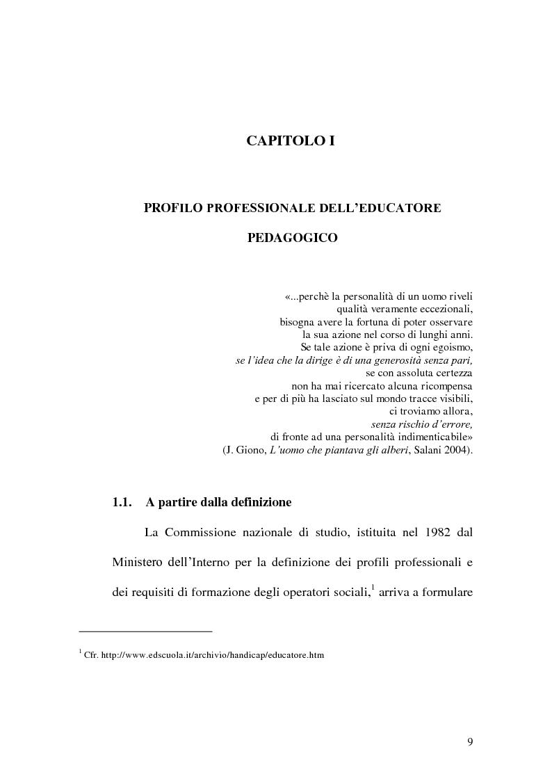 Anteprima della tesi: Incontrare l'Altro nelle professioni educative, Pagina 1
