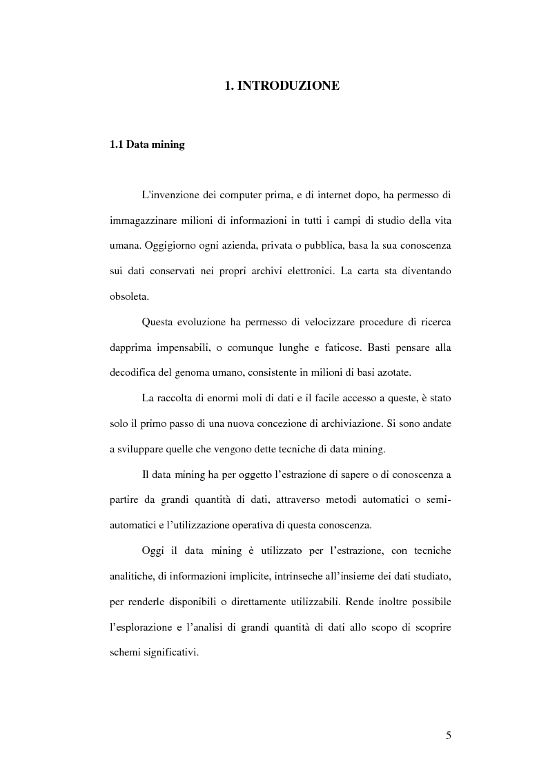 Anteprima della tesi: Un ambiente Java per l'analisi di algoritmi di clustering, Pagina 1