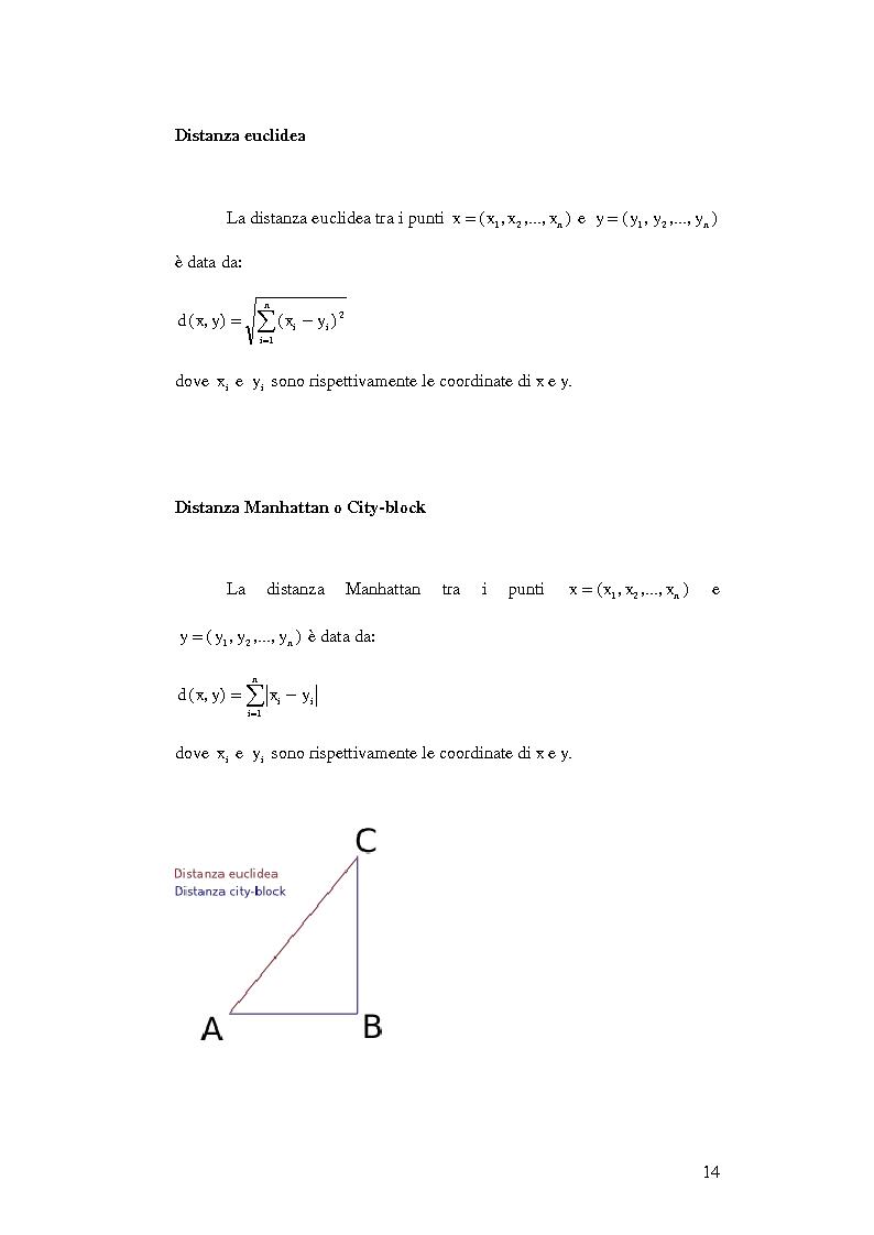 Anteprima della tesi: Un ambiente Java per l'analisi di algoritmi di clustering, Pagina 10
