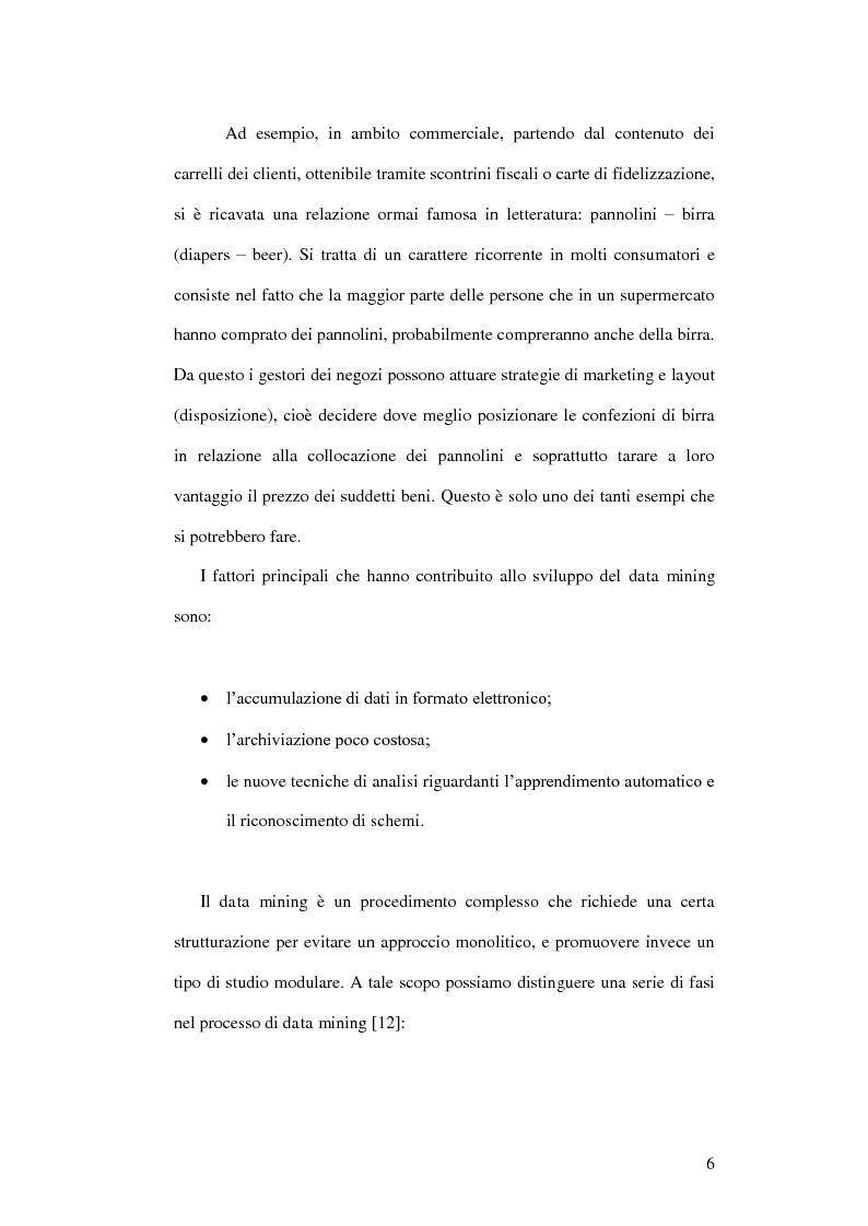 Anteprima della tesi: Un ambiente Java per l'analisi di algoritmi di clustering, Pagina 2