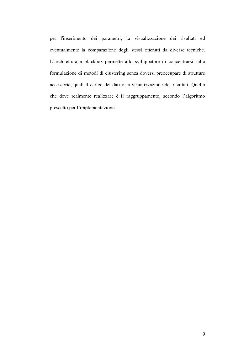 Anteprima della tesi: Un ambiente Java per l'analisi di algoritmi di clustering, Pagina 5