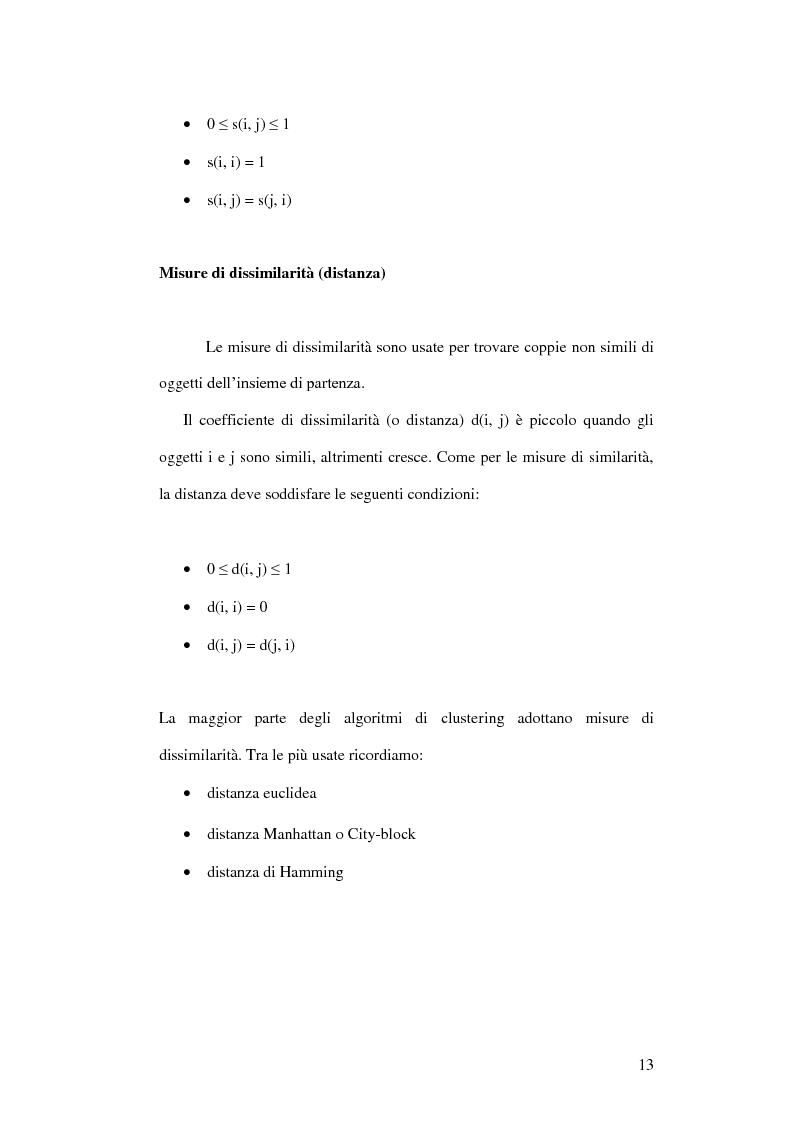 Anteprima della tesi: Un ambiente Java per l'analisi di algoritmi di clustering, Pagina 9