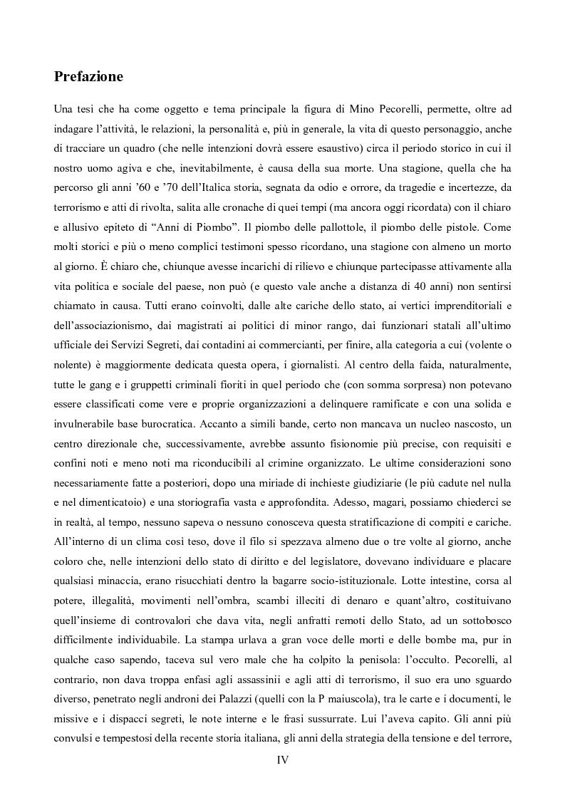 Anteprima della tesi: L'Op e Mino Pecorelli: un giornalismo tra investigazione e mistero, Pagina 1