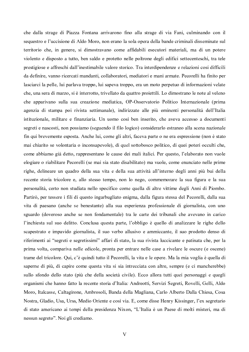 Anteprima della tesi: L'Op e Mino Pecorelli: un giornalismo tra investigazione e mistero, Pagina 2