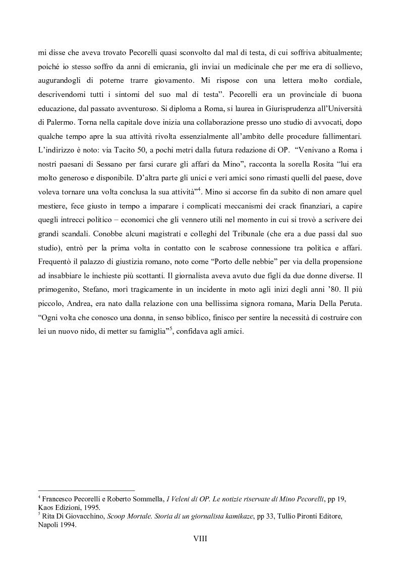 Anteprima della tesi: L'Op e Mino Pecorelli: un giornalismo tra investigazione e mistero, Pagina 5