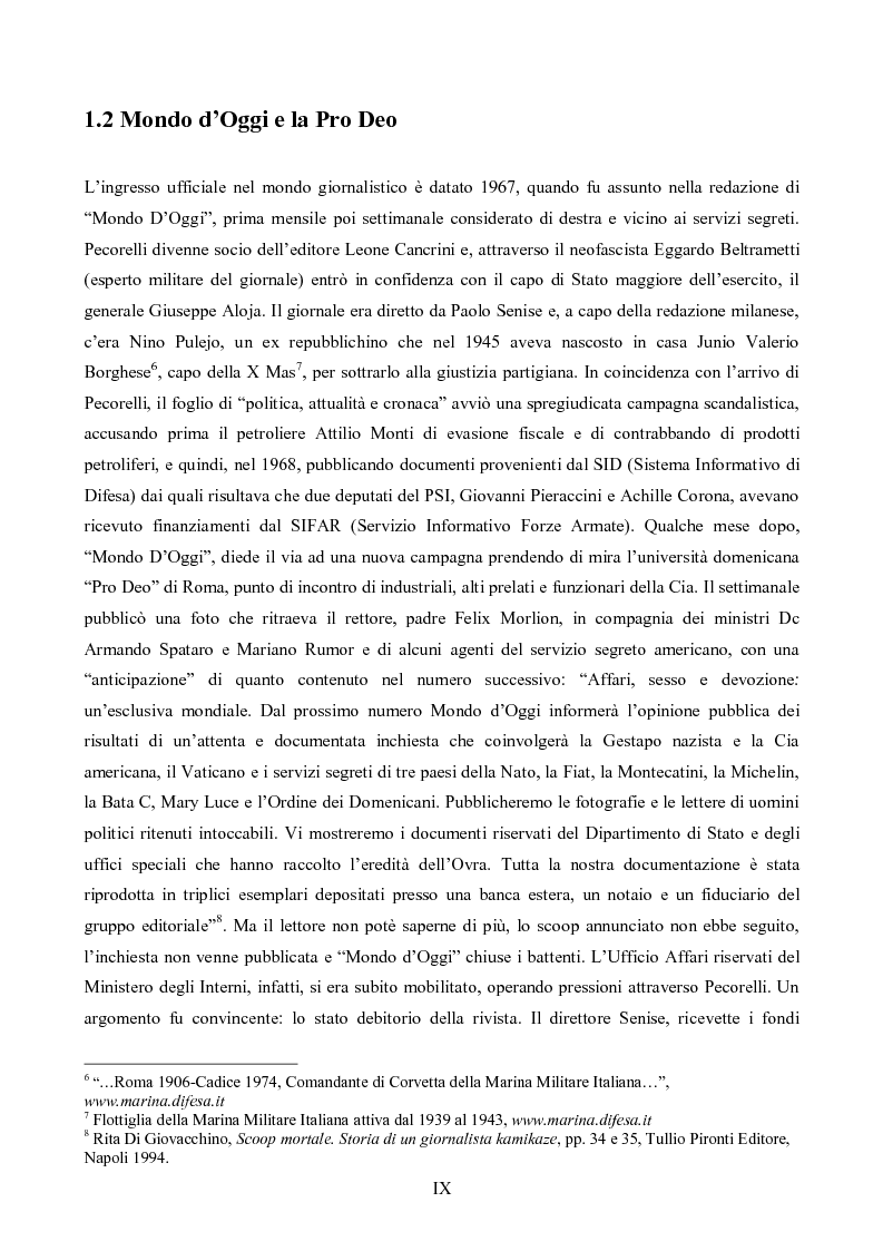 Anteprima della tesi: L'Op e Mino Pecorelli: un giornalismo tra investigazione e mistero, Pagina 6