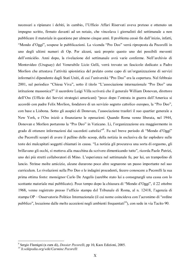 Anteprima della tesi: L'Op e Mino Pecorelli: un giornalismo tra investigazione e mistero, Pagina 7