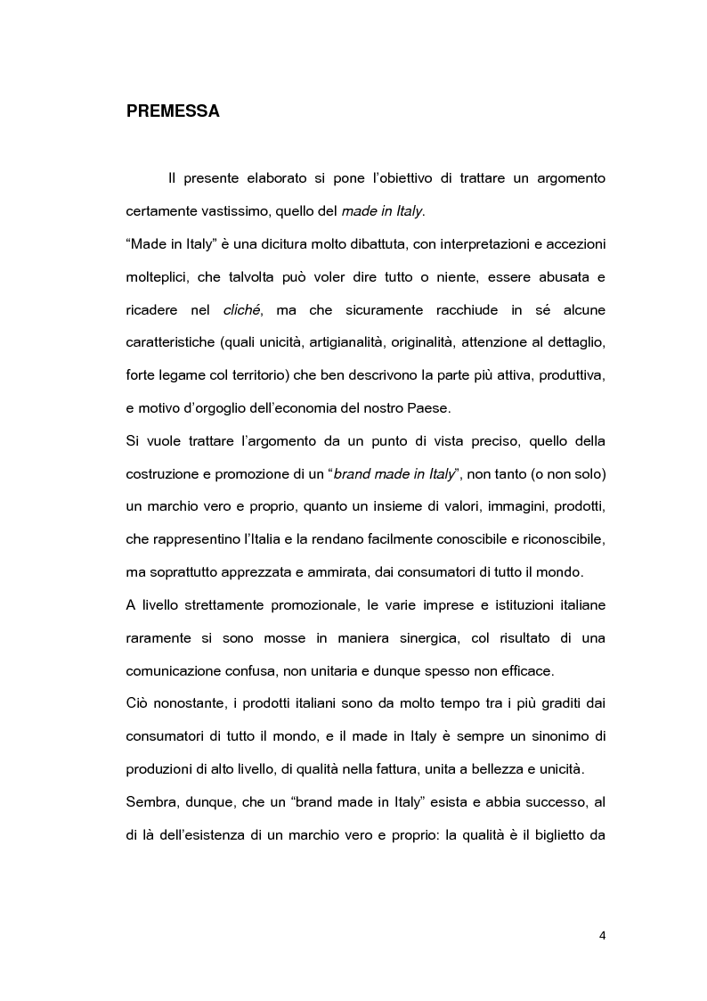 Anteprima della tesi: Il brand 'Made in Italy', Pagina 1