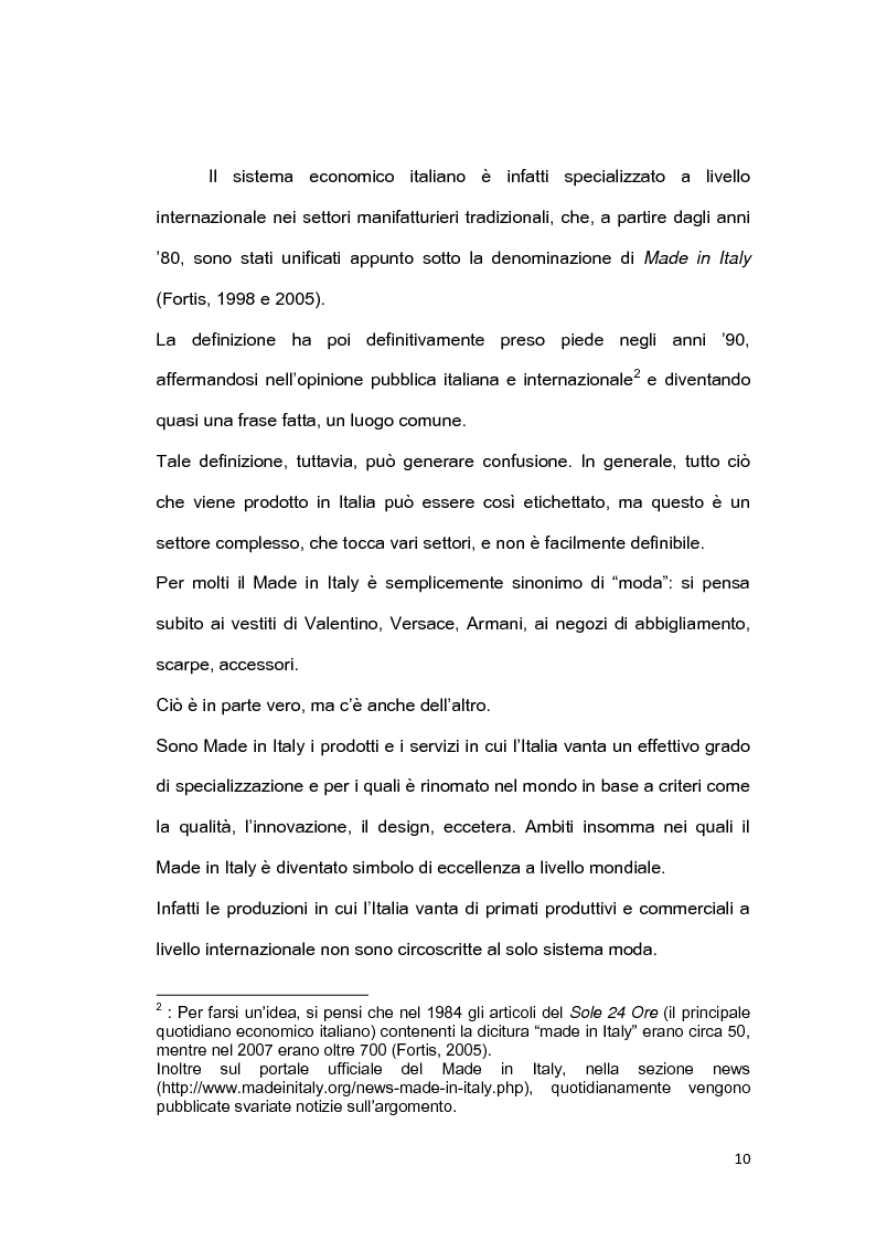 Anteprima della tesi: Il brand 'Made in Italy', Pagina 7
