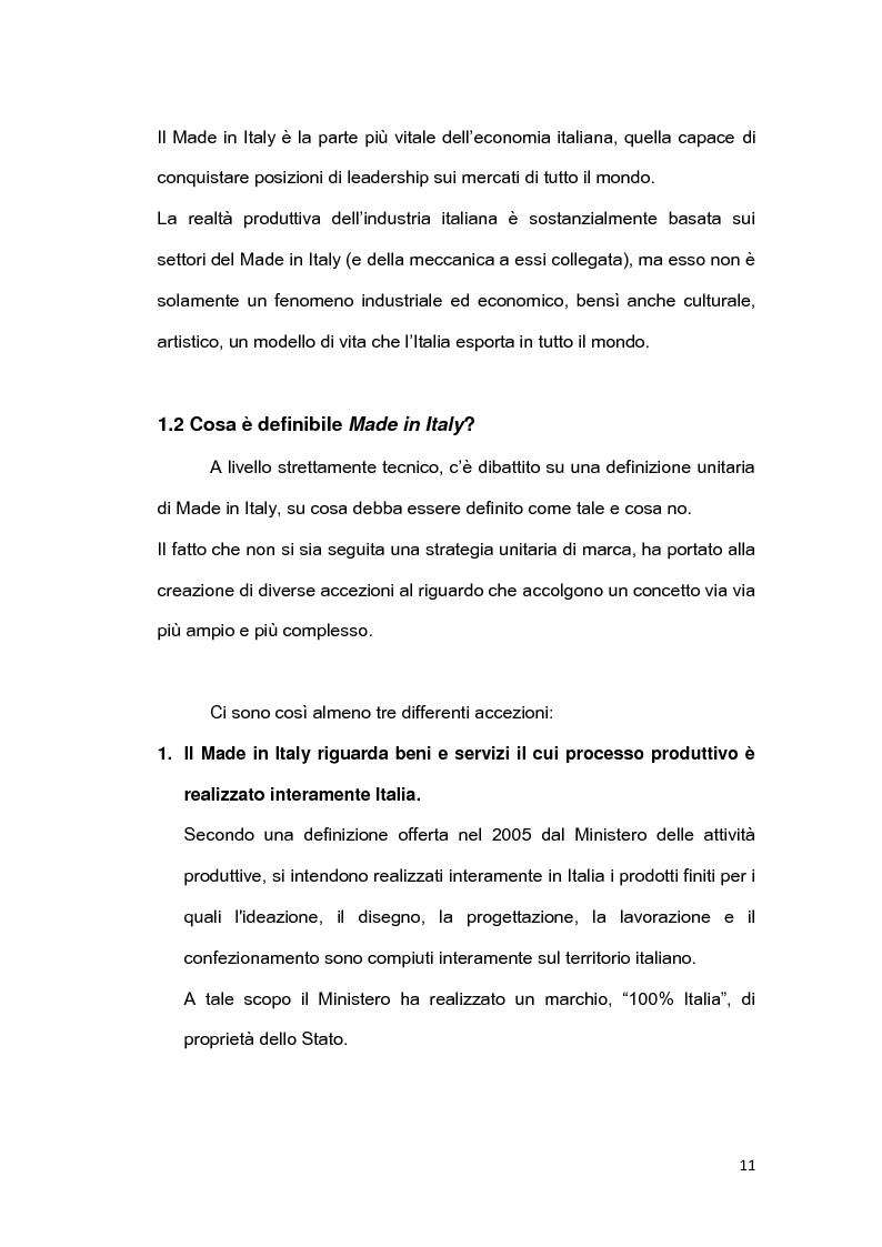 Anteprima della tesi: Il brand 'Made in Italy', Pagina 8