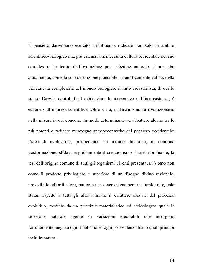 Anteprima della tesi: Evoluzionismo Vs Creazionismo, Pagina 6