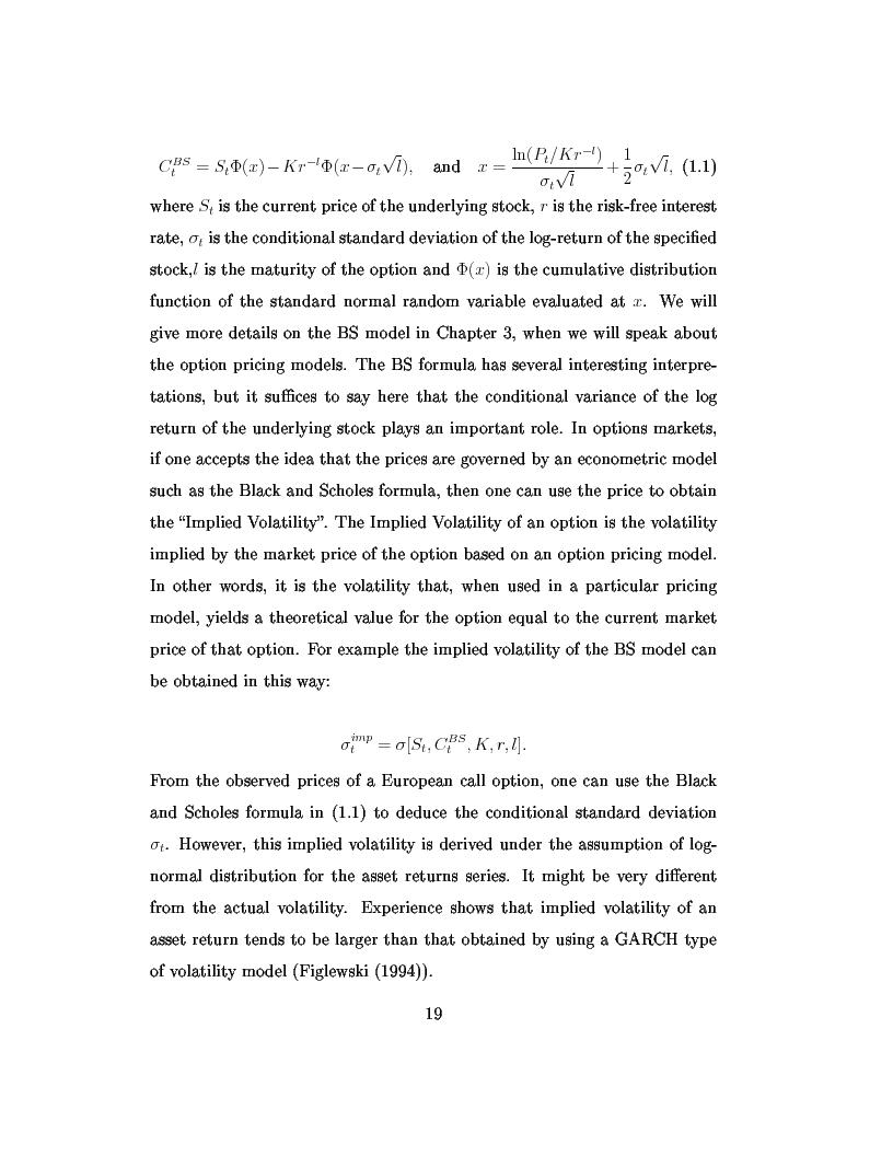 Anteprima della tesi: Dal modello di Black e Scholes ai modelli GARCH: un'analisi delle opzioni sull'indice inglese FTSE 100, Pagina 5