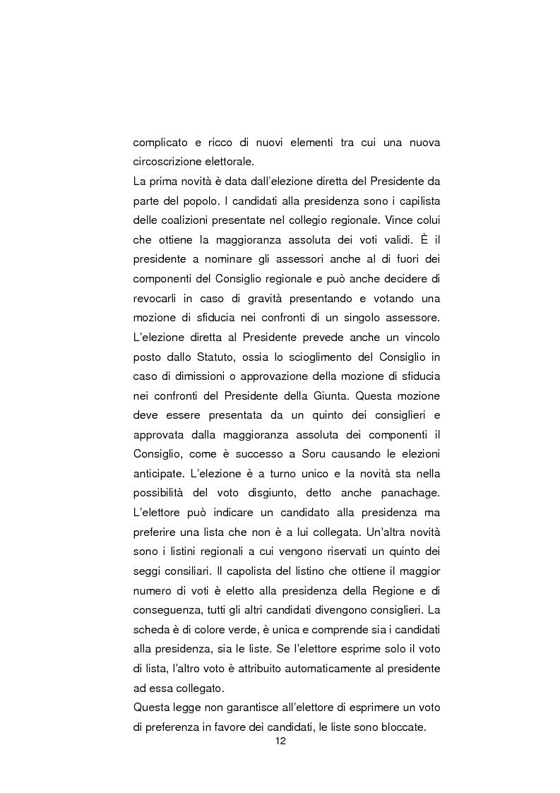 Anteprima della tesi: Regionali in Sardegna 2009: il diverso modo di propagandare dei vari partiti, Pagina 10