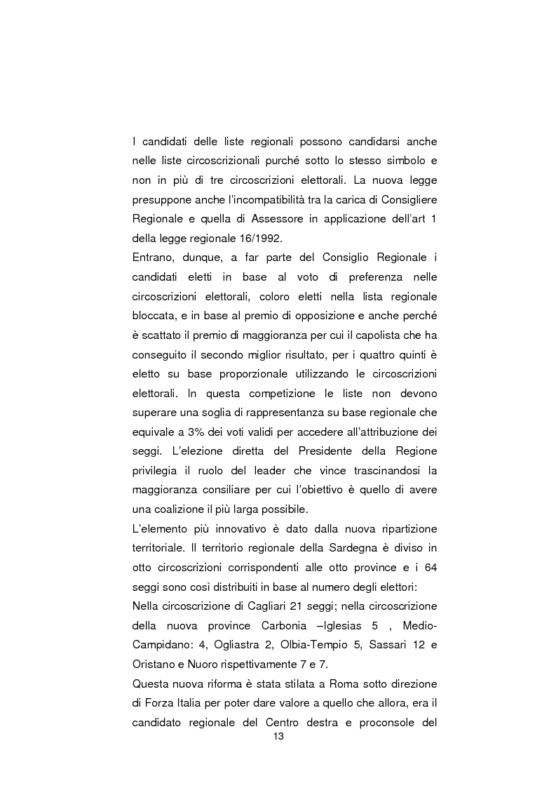Anteprima della tesi: Regionali in Sardegna 2009: il diverso modo di propagandare dei vari partiti, Pagina 11