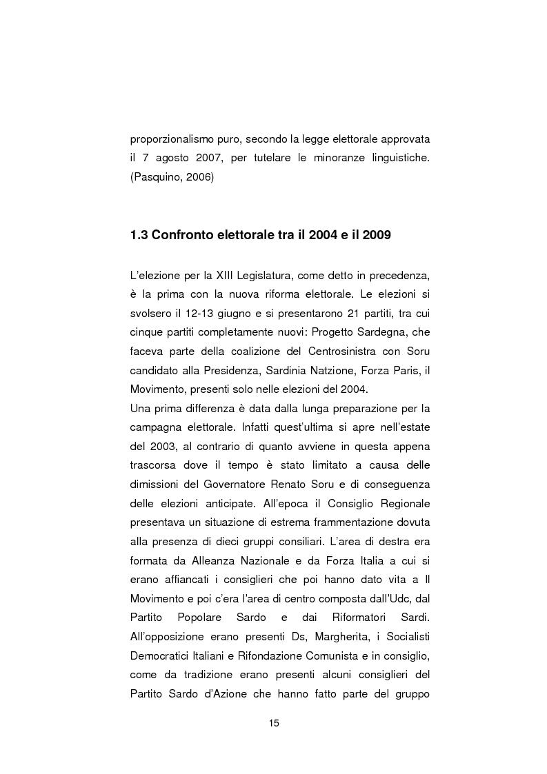 Anteprima della tesi: Regionali in Sardegna 2009: il diverso modo di propagandare dei vari partiti, Pagina 13