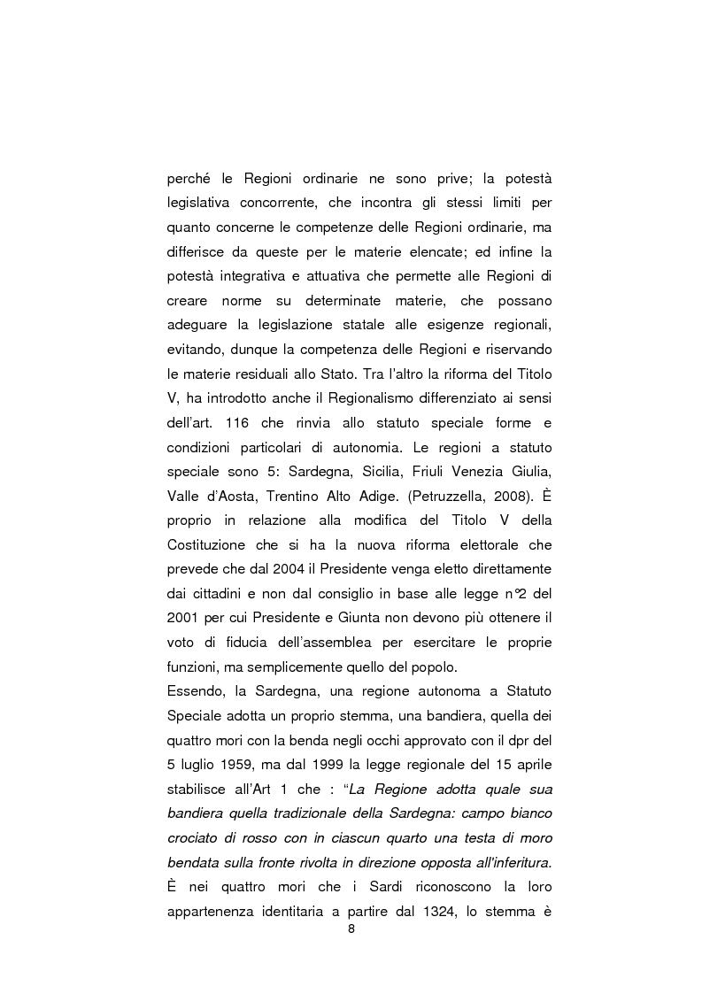 Anteprima della tesi: Regionali in Sardegna 2009: il diverso modo di propagandare dei vari partiti, Pagina 6