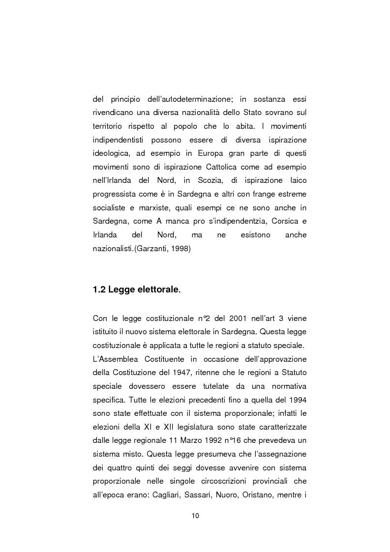 Anteprima della tesi: Regionali in Sardegna 2009: il diverso modo di propagandare dei vari partiti, Pagina 8