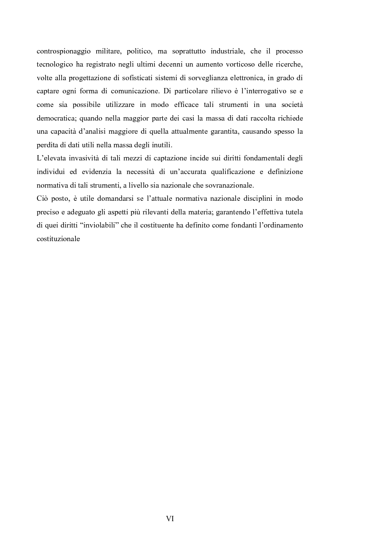 Anteprima della tesi: Le intercettazioni: prospettive di riforma 2009, Pagina 4