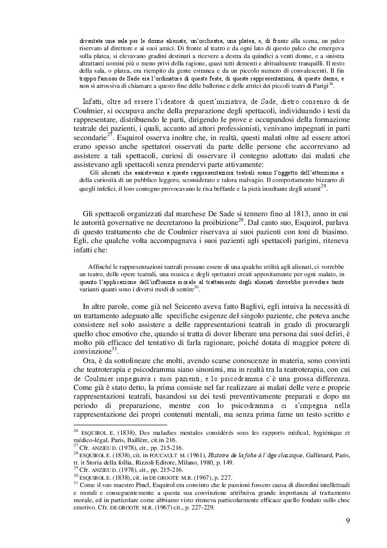 Anteprima della tesi: Lo psicodramma classico: esercizio di creatività e di incontro con l'altro per la crescita personale, Pagina 9