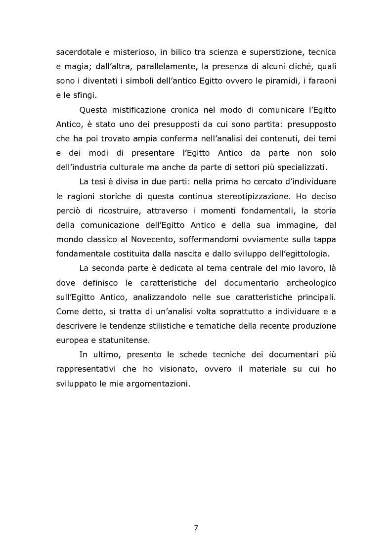 Anteprima della tesi: Comunicare l'Egitto Antico: tendenze recenti nella produzione documentaristica europea e statunitense, Pagina 3