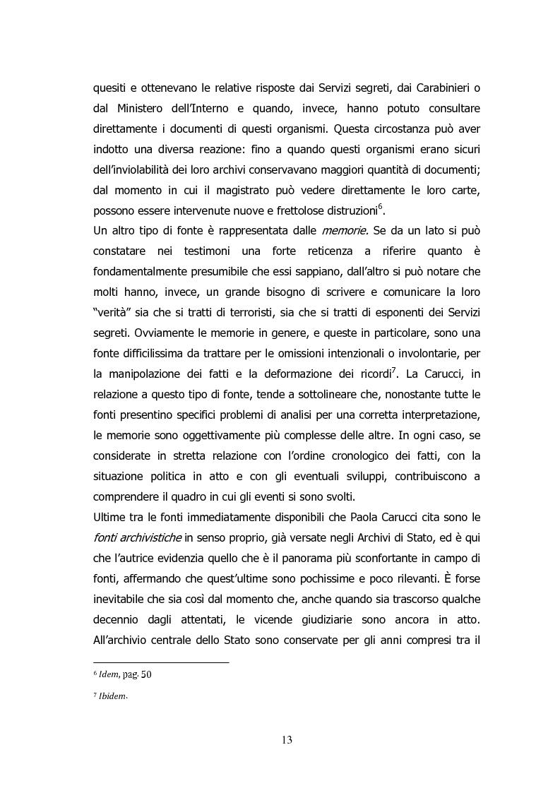 Anteprima della tesi: Analisi storico-sociologica-giornalistica delle stragi e dei disastri (i casi italiani del 1980: Ustica, Bologna, Irpinia), Pagina 13