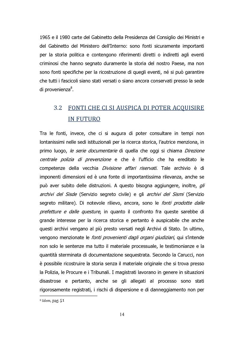 Anteprima della tesi: Analisi storico-sociologica-giornalistica delle stragi e dei disastri (i casi italiani del 1980: Ustica, Bologna, Irpinia), Pagina 14