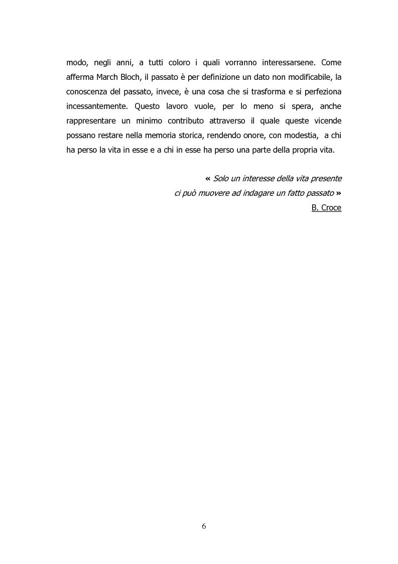 Anteprima della tesi: Analisi storico-sociologica-giornalistica delle stragi e dei disastri (i casi italiani del 1980: Ustica, Bologna, Irpinia), Pagina 6