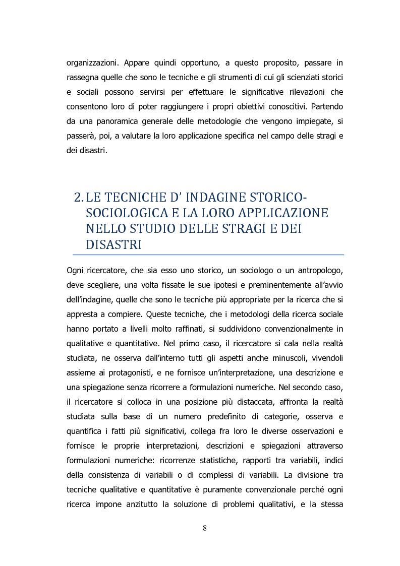 Anteprima della tesi: Analisi storico-sociologica-giornalistica delle stragi e dei disastri (i casi italiani del 1980: Ustica, Bologna, Irpinia), Pagina 8
