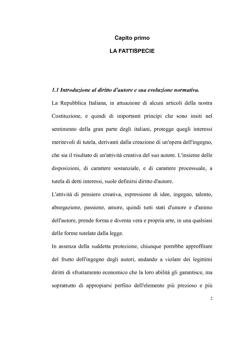 Anteprima della tesi: La tutela delle opere fotografiche, Pagina 1