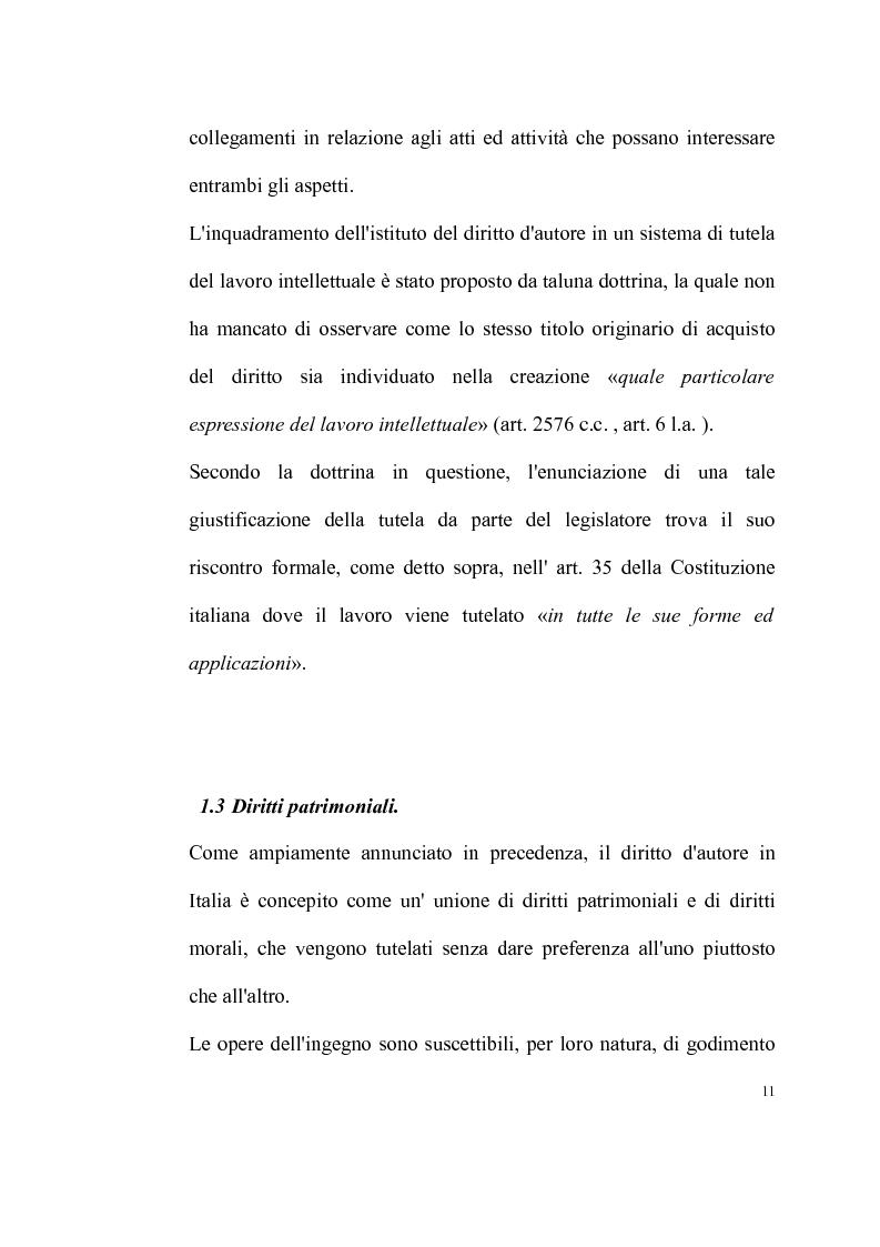 Anteprima della tesi: La tutela delle opere fotografiche, Pagina 10
