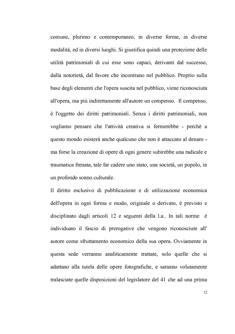 Anteprima della tesi: La tutela delle opere fotografiche, Pagina 11