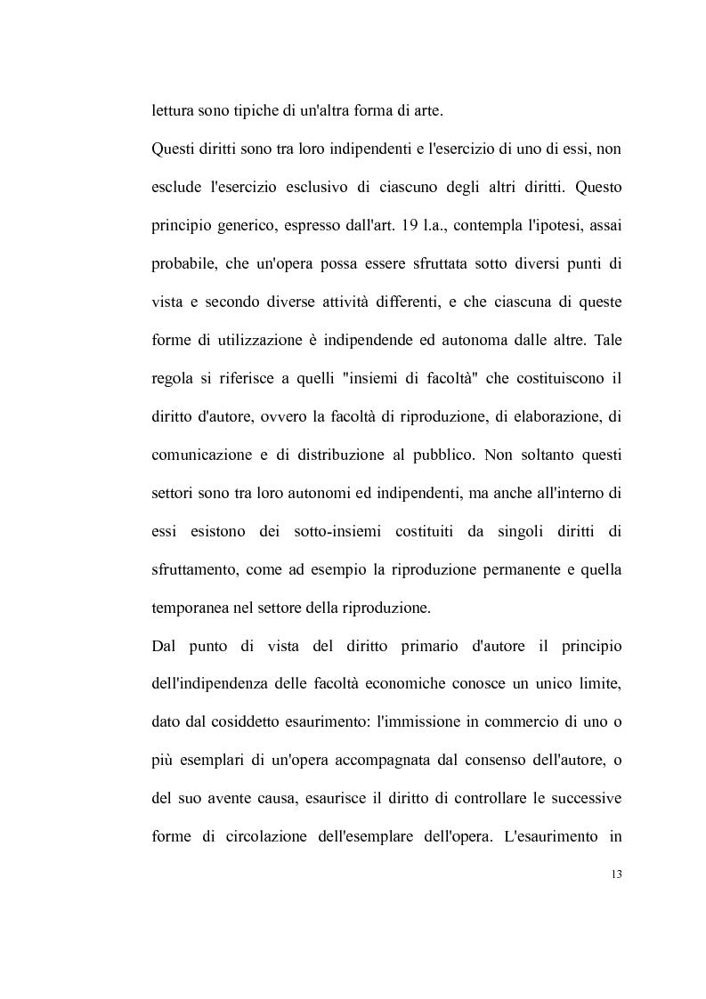 Anteprima della tesi: La tutela delle opere fotografiche, Pagina 12
