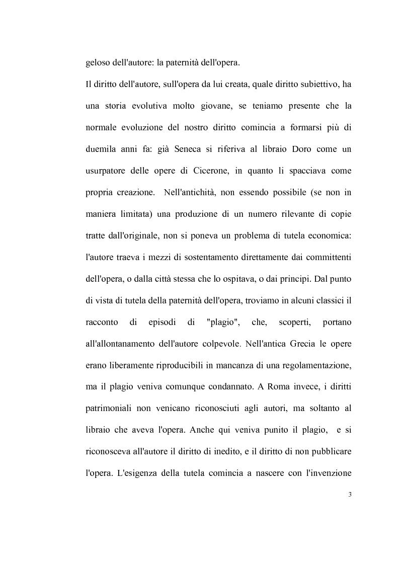 Anteprima della tesi: La tutela delle opere fotografiche, Pagina 2