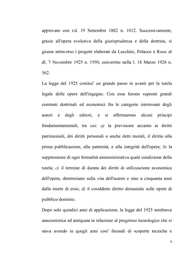 Anteprima della tesi: La tutela delle opere fotografiche, Pagina 5