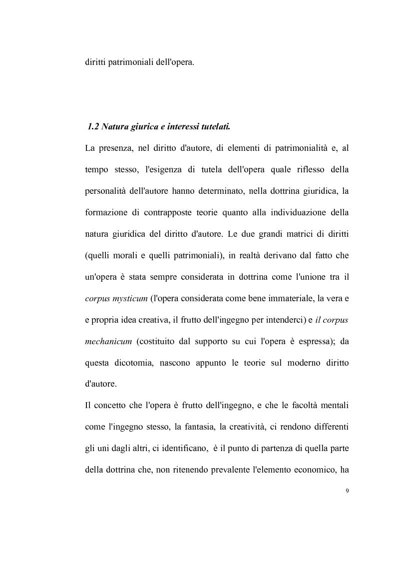 Anteprima della tesi: La tutela delle opere fotografiche, Pagina 8