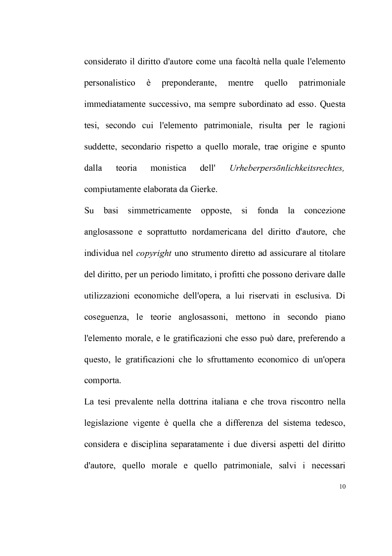 Anteprima della tesi: La tutela delle opere fotografiche, Pagina 9
