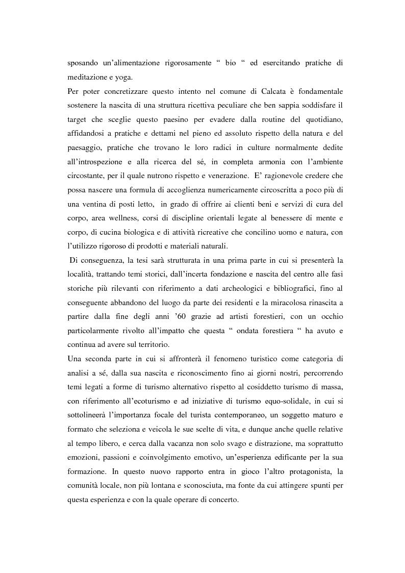 Anteprima della tesi: Turismo alternativo a Calcata, Pagina 2