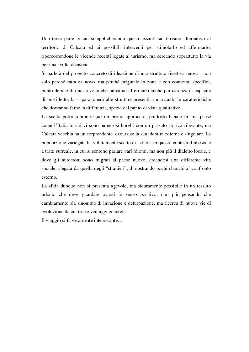 Anteprima della tesi: Turismo alternativo a Calcata, Pagina 3
