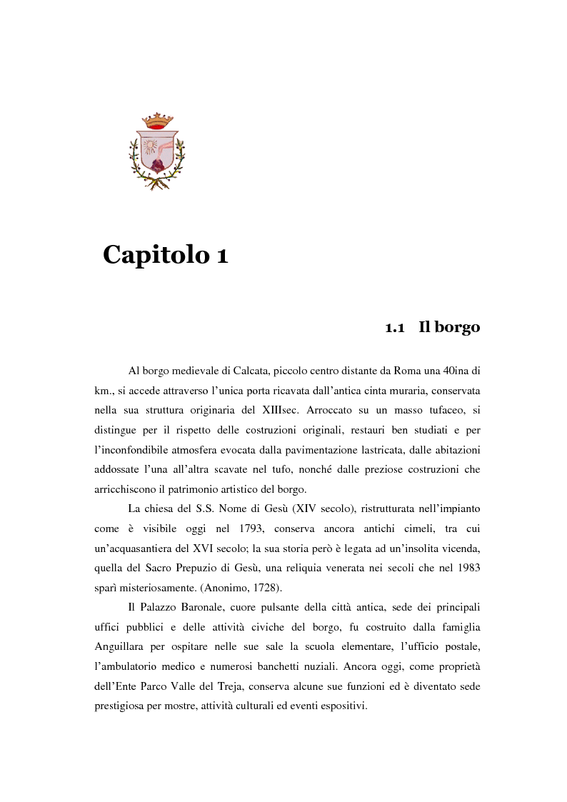 Anteprima della tesi: Turismo alternativo a Calcata, Pagina 4