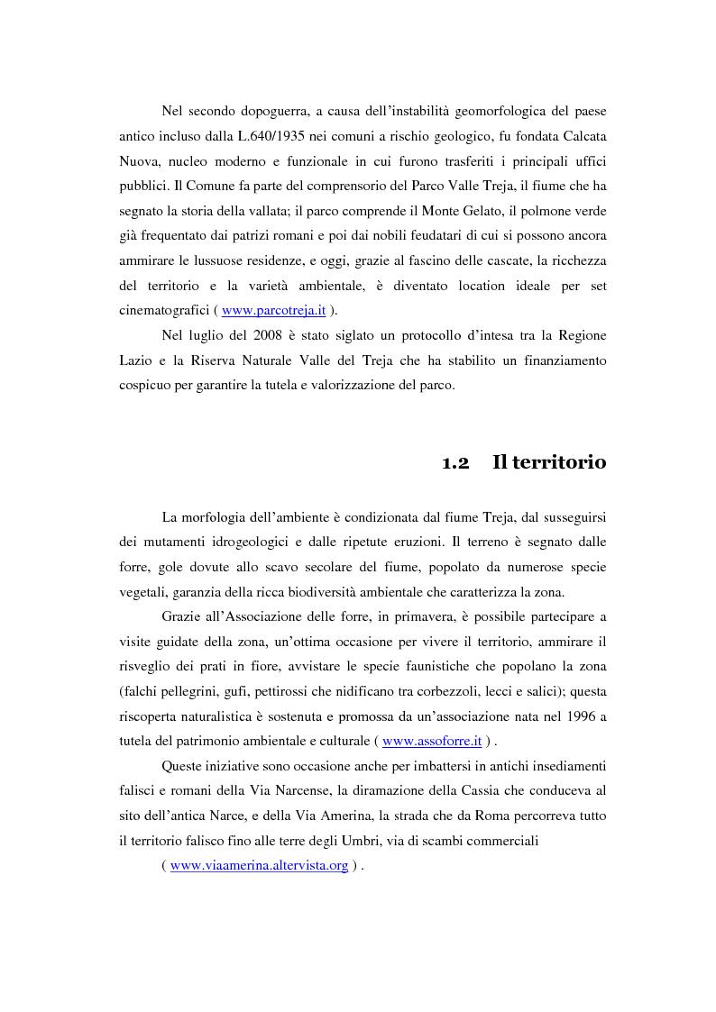 Anteprima della tesi: Turismo alternativo a Calcata, Pagina 5