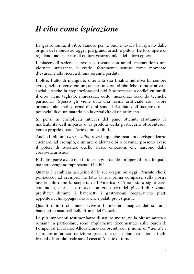 Anteprima della tesi: Il cibo nell'arte, proposta di mostra ''Mangia la Mela'', Pagina 1